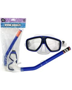 JollyOutside Duikbril+snorkel blauw