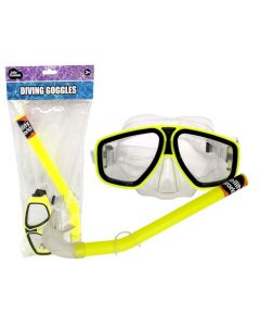 JollyOutside Duikbril+snorkel geel