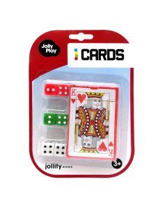 JollyPlay kaartspel /6 dobbelstenen