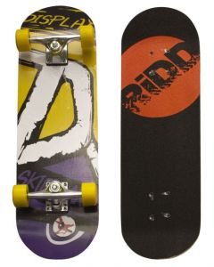 "RiDD Skateboard 28"" yellow/purple"